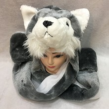 Husky long plush hat