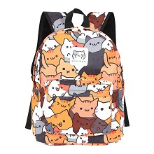Neko Atsume polyester backpack bag