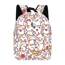 Natsume Yuujinchou anime polyester backpack bag