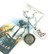 Playerunknown's Battlegrounds key chain + necklace a set
