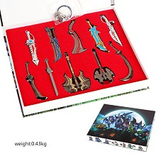 Dota 2 key chains a set