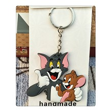 Tom and Jerry anime two-side key chain