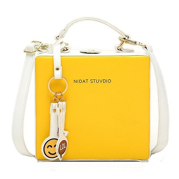 Fashion square satchel shoulder bag