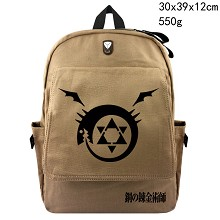 Fullmetal Alchemist anime canvas backpack bag
