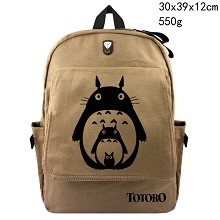 Totoro anime canvas backpack bag