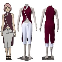 Naruto Haruno Sakura cosplay cloth dress set(2pcs ...