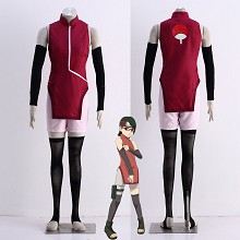 Naruto Uchiha Sarada cosplay cloth dress set(5pcs ...