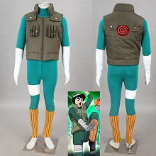 Naruto Rock Lee anime cosplay cloth dress set(5pcs...