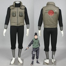 Naruto Nara Shikamaru anime cosplay cloth dress set(5pcs a set)