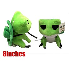 8inches Travel Frogwas plush doll