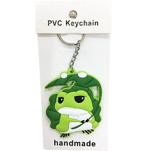 Travel Frogwas two-sided key chain