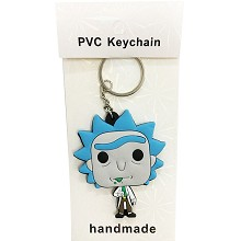 Rick and Morty two-sided key chain