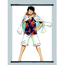 One Piece Luffy anime wallscroll