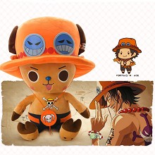 12inches One Piece Chopper cos ACE anime plush doll