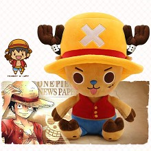 12inches One Piece Chopper cos Luffy anime plush doll
