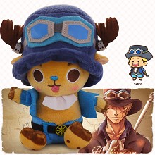 12inches One Piece Chopper cos Sabo anime plush doll