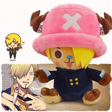 12inches One Piece Chopper cos Sanji anime plush doll