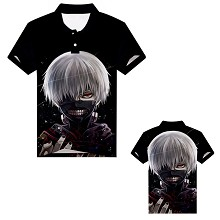 Tokyo ghoul anime polo t-shirt
