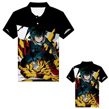 My Hero Academia anime polo t-shirt