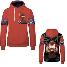 One Piece Luffy anime hoodie cloth