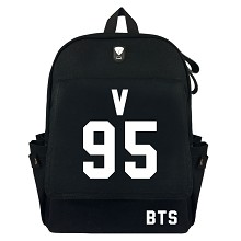 BTS V95 canvas backpack bag