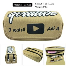 Youtube canvas pen bag pencil bag