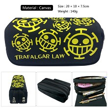 One Piece anime canvas pen bag pencil bag