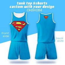 Super Man vest+short pants a set
