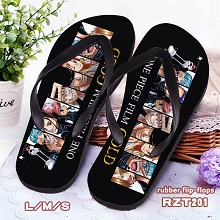 One Piece anime rubber flip-flops shoes slippers a pair