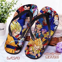 Dragon Ball anime rubber flip-flops shoes slippers a pair