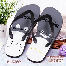 Totoro anime rubber flip-flops shoes slippers a pair