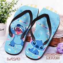 Stitch rubber flip-flops shoes slippers a pair