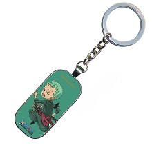 One Piece Zoro anime key chain