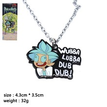Rick and Morty necklace