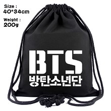 BTS drawstring backpack bag
