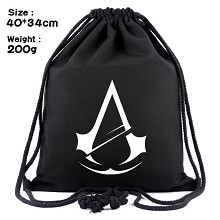 Assassin's Creed drawstring backpack bag