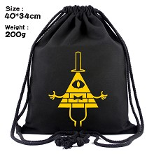 Gravity Falls drawstring backpack bag