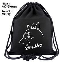 Totoro anime drawstring backpack bag