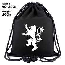 Game of Thrones drawstring backpack bag