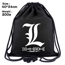 Death Note anime drawstring backpack bag