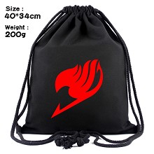 Fairy Tail anime drawstring backpack bag