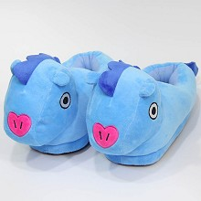 BTS plush shoes slippers a pair
