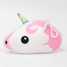 Unicorn plush wallet coin purse