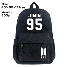 BTS canvas backpack bag