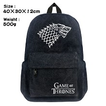 Game of Thrones canvas backpack bag