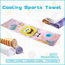 Spongebob anime cooling sports towel