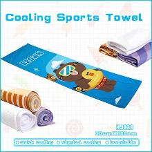 Bear Brown & Bunny Cony anime cooling sports towel