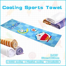 Doraemon anime cooling sports towel