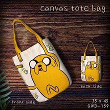 Adventure Time anime canvas tote bag shopping bag