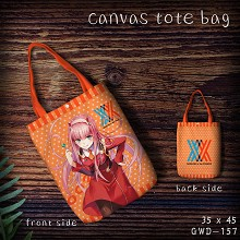DARLING in the FRANXX anime canvas tote bag shopping bag